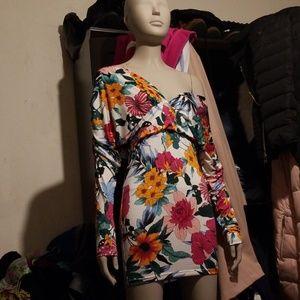 Fashion nova off the shoulder mini dress